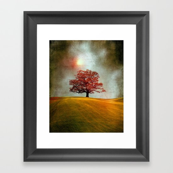Energy & love (colour option) Framed Art Print