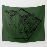 jaguar Wall Tapestries featuring Panthera Onca by Fox Richards