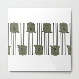 Green transistor PATTERN2 Metal Print