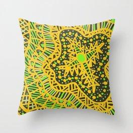 Doodle 16 Yellow Throw Pillow
