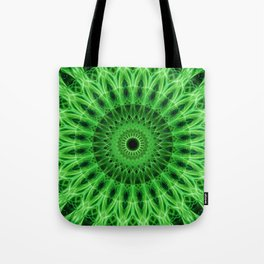 Bright green mandala Tote Bag