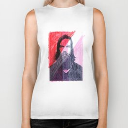 Red, White and Pink Portrait, 2004 Biker Tank