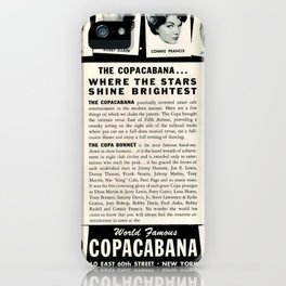 1950's Vintage NYC Copacabana Nightclub Advertisement Revue Poster iPhone Case