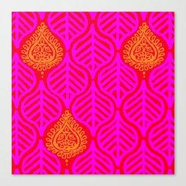 PLANTAIN PALACE - RED/PINK/ORANGE Canvas Print