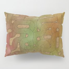retro swirls Pillow Sham