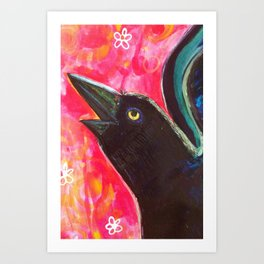 """Detail from """"Grackle with a Spoon"""" Art Print"""
