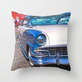 blu crown vic  Throw Pillow