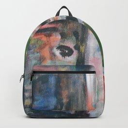 Door to heaven - colorful, gentle, rustic, acrylic, abstract art piece Backpack