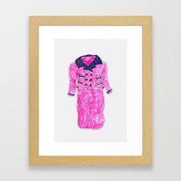 Pink Suit Framed Art Print