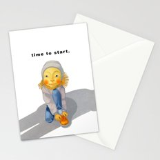 time to start. Stationery Cards