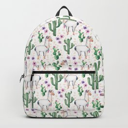 Llama Llamarama + Cactus Backpack