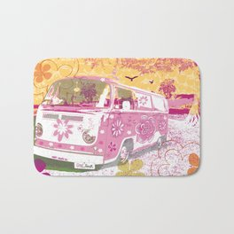girl camper Bath Mat