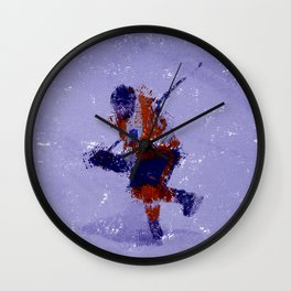 Eyes on the Prize - Ice Hockey Player Wall Clock