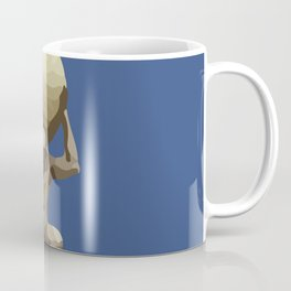 Man with Big Ball Illustration dark blue Coffee Mug