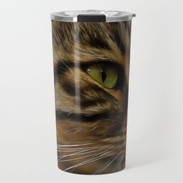 Aslan The Long Haired Tabby Cat Travel Mug