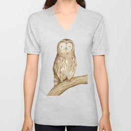 Tawny Owl Unisex V-Neck