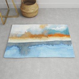 Orange Sea Drop Rug