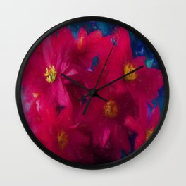 Poinsettia Abstract Wall Clock