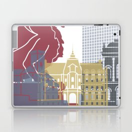 Ljubljana skyline poster Laptop & iPad Skin