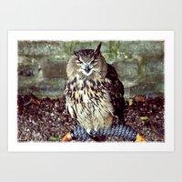 Happy Owl. Art Print