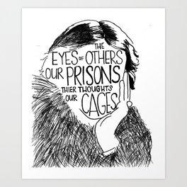 Virginia Woolf (Quote) Art Print