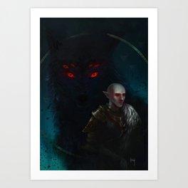 Dread Wolf Art Print