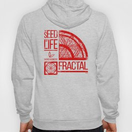 Sacred Geometry-The Seed of life-FRACTAL Hoody