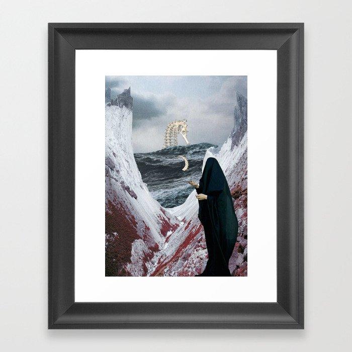 Tidal wave of Horror Framed Art Print