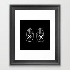 Hands Black Framed Art Print