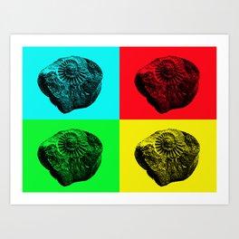 Pop Art Fossil Art Print