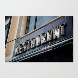 Detroit: Restaurant Canvas Print
