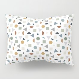 green geometric terrazzo Pillow Sham