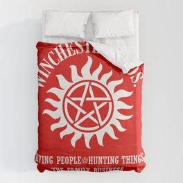 SUPERNATURAL WINCHESTER BROTHERS DEAN AND SAM Duvet Cover