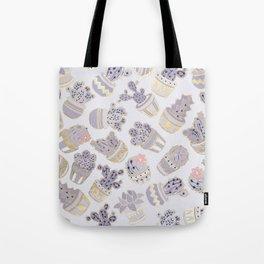 Elegant modern faux gold lavender pink cactus floral Tote Bag