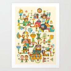 The Chipper Widget Art Print