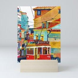 Lisbon area next to Calcada de Sao Vicente Mini Art Print