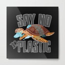Climate Change CO2 Future Planet Earth Gift Idea Metal Print