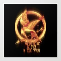 mockingjay Canvas Prints featuring Mockingjay by KanaHyde