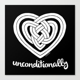 UNCONDITIONALLY in white Canvas Print