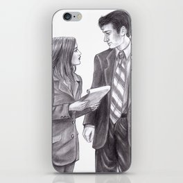 The skeptic and the believer iPhone Skin