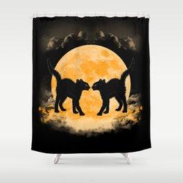 Black Cats Paradise Shower Curtain
