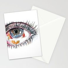 Koi Fish in Eye Stationery Cards