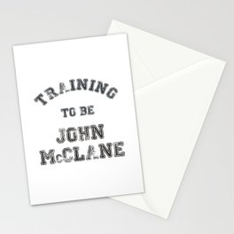 Training to be John McClane Stationery Cards