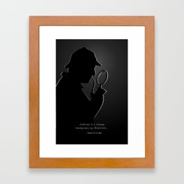 Sherlock Holmes Silhouette & Quote Framed Art Print
