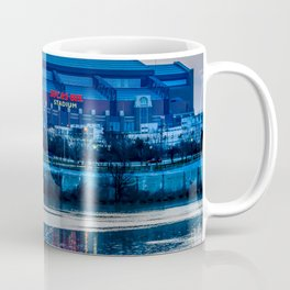 Indy's Lucas Oil Stadium Near the White River Coffee Mug