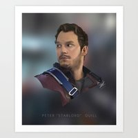 """starlord Art Prints featuring PETER """"STARLORD"""" QUILL by Sharky"""