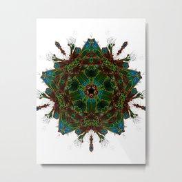 Electrified Star on White Metal Print