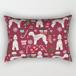 Bedlington Terrier christmas dog pattern gifts dog breed pet friendly design Rectangular Pillow
