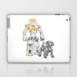 The Dog Walker. (Orange) Laptop & iPad Skin