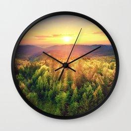 majestic sunrise Wall Clock